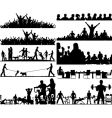 people foregrounds vector image