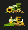 vitamin e image vector image