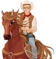 horse riding cowboy vector image vector image