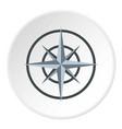 ancient compass icon circle vector image