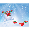 snowman gifts vector image vector image