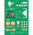 india infographic set vector image