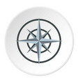 ancient compass icon circle vector image