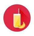 Banana juice icon vector image