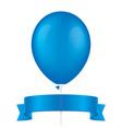 blue balloon and ribbon vector image