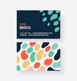 business card geometric vector image