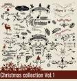 collection of calligraphic christmas and new year vector image