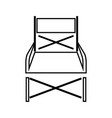 folding chair it is black icon vector image