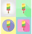 ice cream flat icons 16 vector image