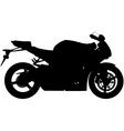Motorbike silhouette vector image