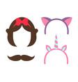 princess party icon collection vector image