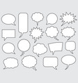 speech bubbles comics stroke line vector image