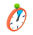 Stopwatch icon isometric 3d style vector image