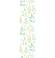 Textile textured spring leaves vertical border vector image