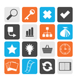Black Simple Internet and Web Site Icons vector image vector image