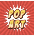 comic pop art style vector image vector image