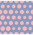 Pink dots on blue bacgkround seamless vector image