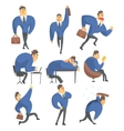 Businessman In A Suit Different Work Activities vector image