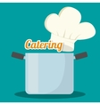 catering related icons emblem vector image