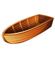 W ooden boat vector image