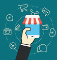 Flat design modern web shopping concept vector image