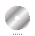 circular saw blade icon flat style vector image