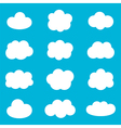 Flat design cartoon cute cloud set collection vector image