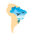 Map picture of South America vector image