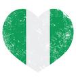 Nigeria retro heart shaped flag vector image