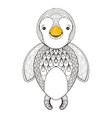 pinguin for adult coloring page Hand drawn vector image