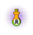 Poison bottle icon comics style vector image