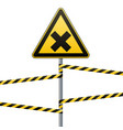 safety sign caution - danger harmful to health vector image