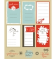 set of journaling card and logotypes for vector image
