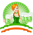 St Patrick Day girl vector image