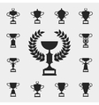 Trophy icons set vector image