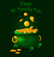 Pot of gold background vector image vector image