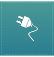 electrical plug web flat icon vector image