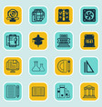 set of 16 education icons includes education vector image