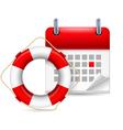 Flotation ring and calendar vector image