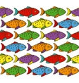 Rainbow Fish Seamless Pattern vector image
