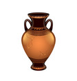 ancient vase isolated vector image