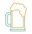 beer glass foam drink icon vector image