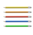Colored pencils isolated on pure white background vector image