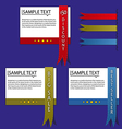 Colorful ribbons and labels vector image