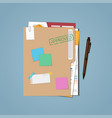 folder approved resumes vector image