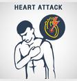 heart attack logo icon design vector image
