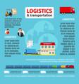 logistics infographic design vector image