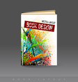 Modern abstract brochure as book vector image