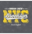 New York typography vector image