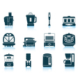 Set of kitchen equipment icons vector image